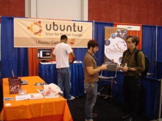 photo from OSCON 2009 booth