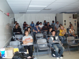 audience at the screening of Revolution OS at CSU Long Beach