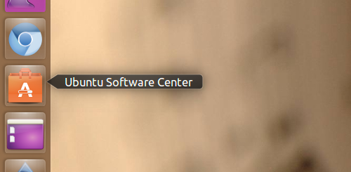 The software center icon is usually in the Unity dock