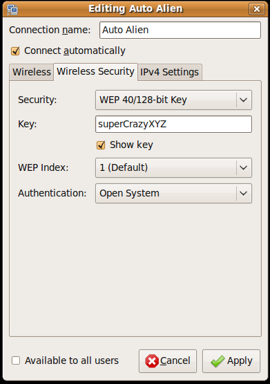 Revised Edit Wireless Network Security Tab