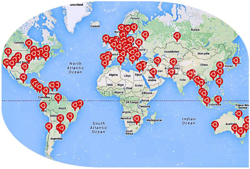 ubuntu members map