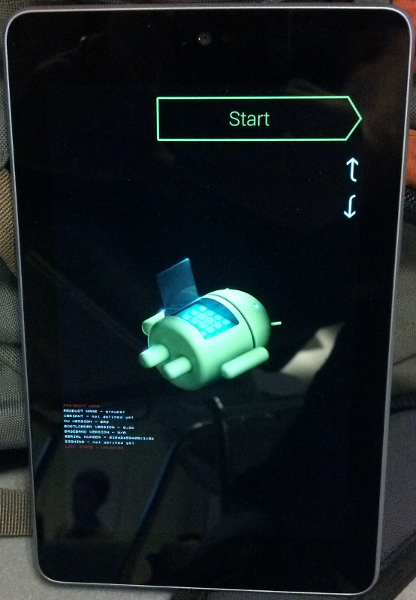 Nexus bootloader mode